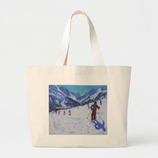 The ski instructor Mottaret Large Tote Bag