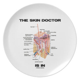 The Skin Doctor Is In (Anatomy Dermatology) Dinner Plate