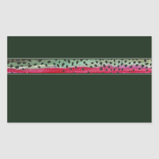 The Skin Rainbow Trout Rectangular Sticker