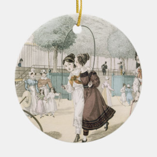 The Skipping Game, plate 115 from 'Le Bon Genre', Christmas Ornament