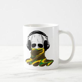 The Skull: Headphones & Camouflaged Turtleneck Coffee Mugs