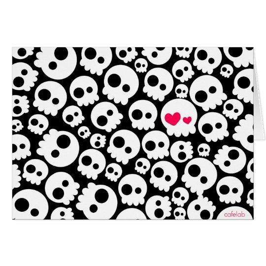 The skull in love card