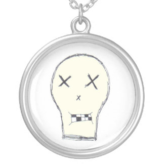 The Skull Round Pendant Necklace
