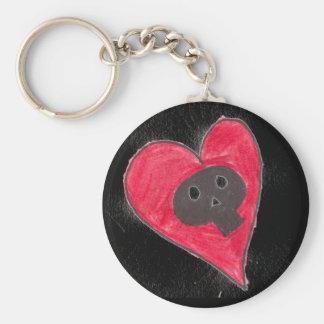The skull s heart keychain