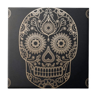 The Skull Small Square Tile