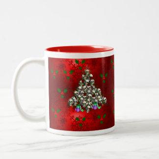 The Skulls of Christmas Two-Tone Mug
