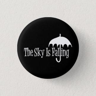 The Sky Is Falling Umbrella Black & White 3 Cm Round Badge
