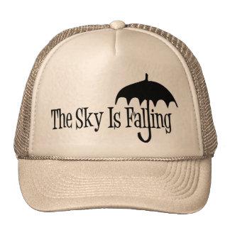 The Sky Is Falling Umbrella Black & White Cap
