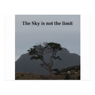 The Sky is not the limit Postcard