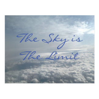 The Sky is The Limit, Motivational Succes Card Postcard