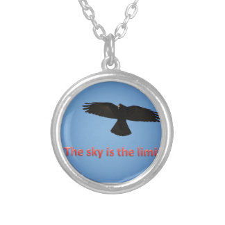 The sky is the limit round pendant necklace