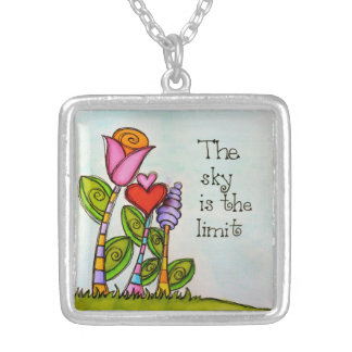 The Sky Is The Limit Silver Plated Necklace
