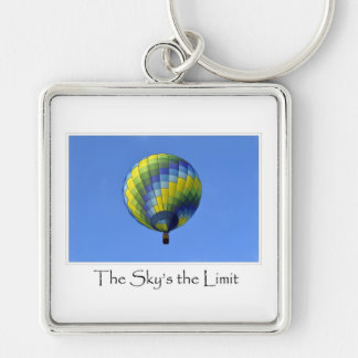 The Sky s the Limit Hot Air Balloon Photograph Keychain