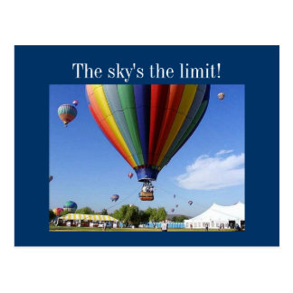 The Sky s the Limit Post Cards