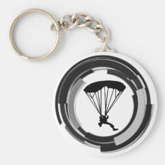 THE SKYDIVING REALM BASIC ROUND BUTTON KEY RING