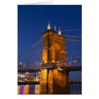 The skyline of Cincinnati, Ohio, USA at dusk Card