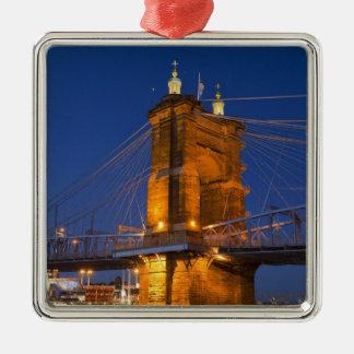 The skyline of Cincinnati, Ohio, USA at dusk Christmas Ornament