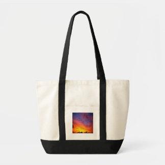 The-sky's-ablaze,impulse tote bag