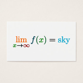 The sky's the limit business card