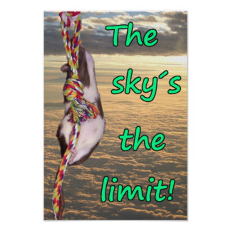The Sky's the Limit! (Inspirational Rat Poster) Poster