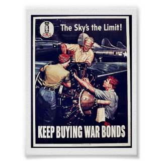 The Sky's The Limit, Keep Buying War Bonds Poster