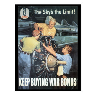 The Sky's The Limit World War II Post Card