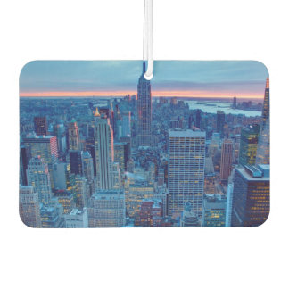 The skyscrapers of Manhattan are lit Car Air Freshener