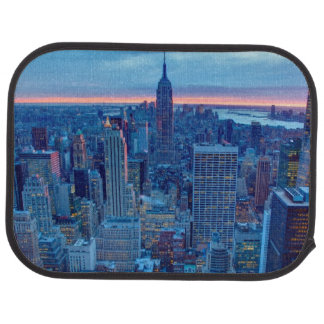 The skyscrapers of Manhattan are lit Car Mat