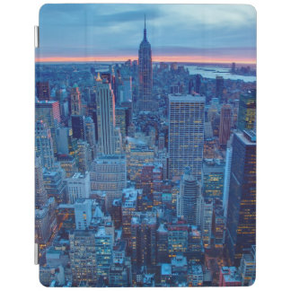 The skyscrapers of Manhattan are lit iPad Cover