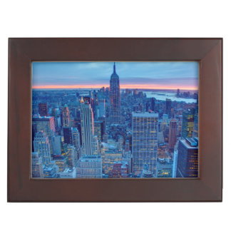 The skyscrapers of Manhattan are lit Keepsake Box