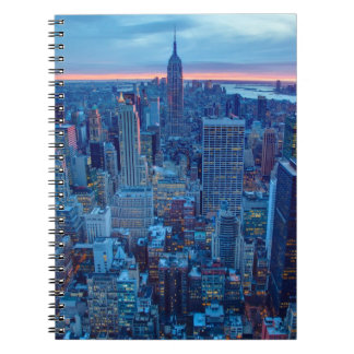 The skyscrapers of Manhattan are lit Notebook