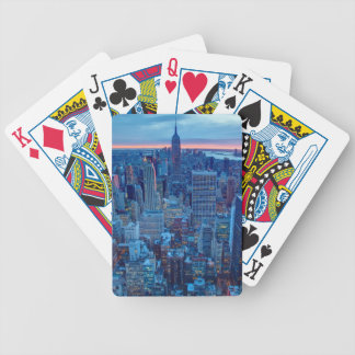 The skyscrapers of Manhattan are lit Poker Deck