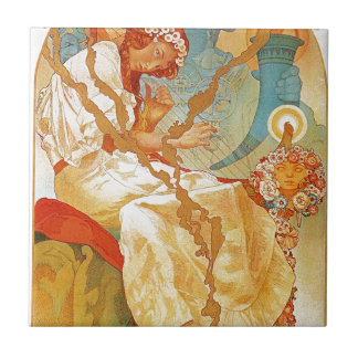 The Slav Epic by Alphonse Mucha Small Square Tile
