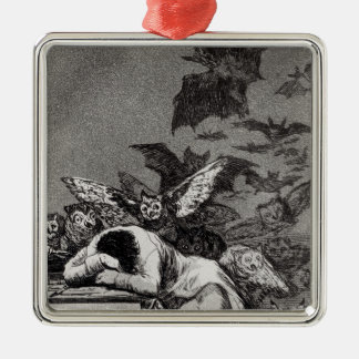 The Sleep of Reason Produces Monsters Silver-Colored Square Decoration