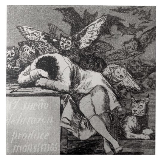The Sleep of Reason Produces Monsters Large Square Tile