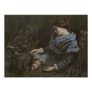 The Sleeping Embroiderer, 1853 Poster