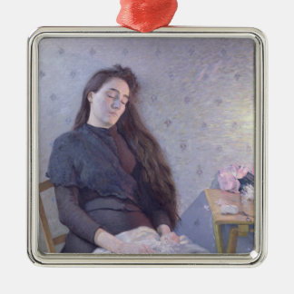 The Sleeping Flower Girl, 1892 Christmas Ornament