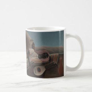 The Sleeping Gypsy by Henri Rousseau Basic White Mug