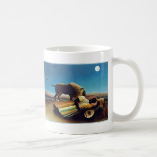 """""""The Sleeping Gypsy"""" by Henri Rousseau Basic White Mug"""