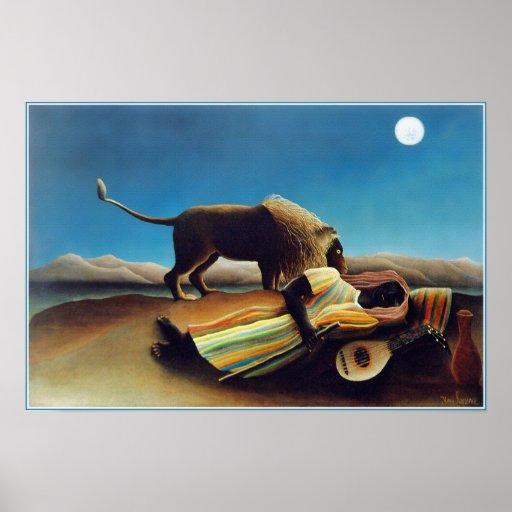 """The Sleeping Gypsy"" by Henri Rousseau Print"