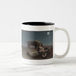The Sleeping Gypsy by Henri Rousseau Two-Tone Mug