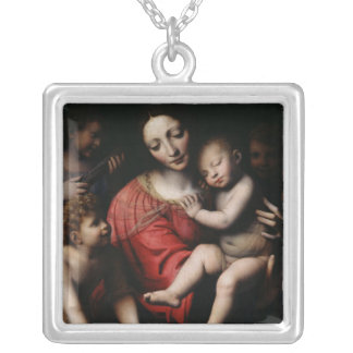 The sleeping Jesus Silver Plated Necklace