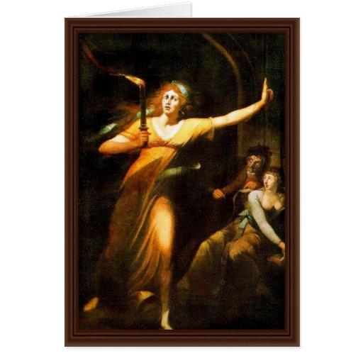 The Sleepwalking Lady Macbeth By Füssli Johann Hei Cards