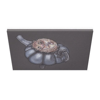 The Sleepy Little Dormouse Gallery Wrapped Canvas