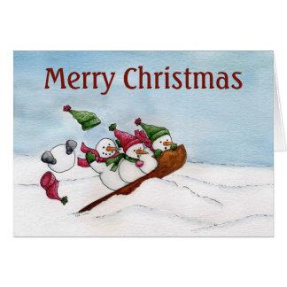 The Sleigh Ride - Christmas Card