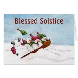 The Sleigh Ride - Solstice Card