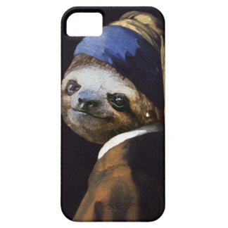 The Sloth with A Pearl Earring Case For The iPhone 5