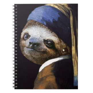 The Sloth with A Pearl Earring Notebook
