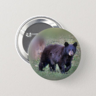 The small bear 6 cm round badge