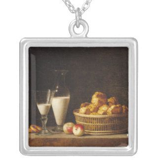 The Small Collation, or The Carafe of Orgeat Silver Plated Necklace